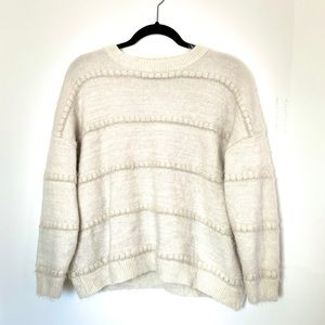 Dreamers Chunky Cream Sweater with Gold